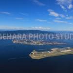 神戸空港より六甲山系