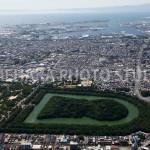 大山古墳と大阪湾